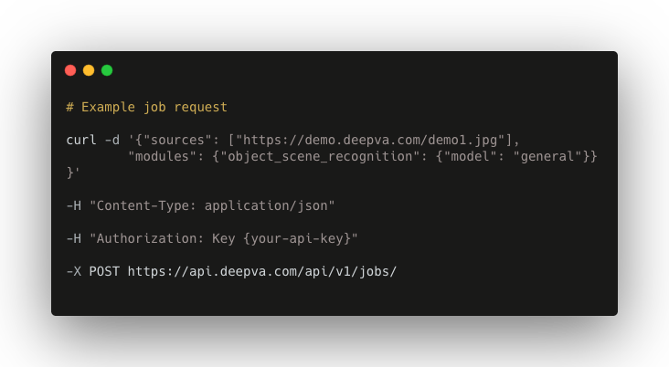 deepva for developers code snippet