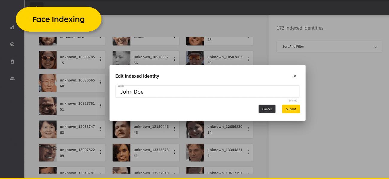 deepva face indexing
